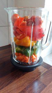 Gemüses im Mixer